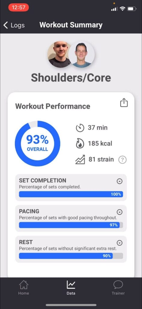 workout summary