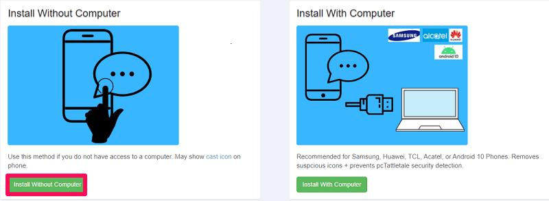 selecting installation method