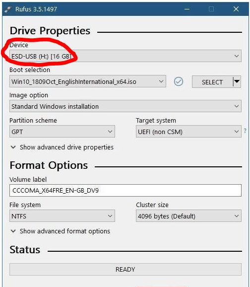 clean flash drive
