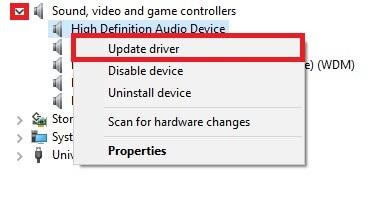 Update Audio Driver