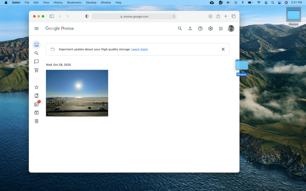 Upload from Photos or iPhoto to Google Photos
