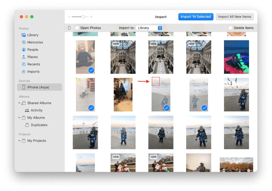 Using iPhoto/Photos App