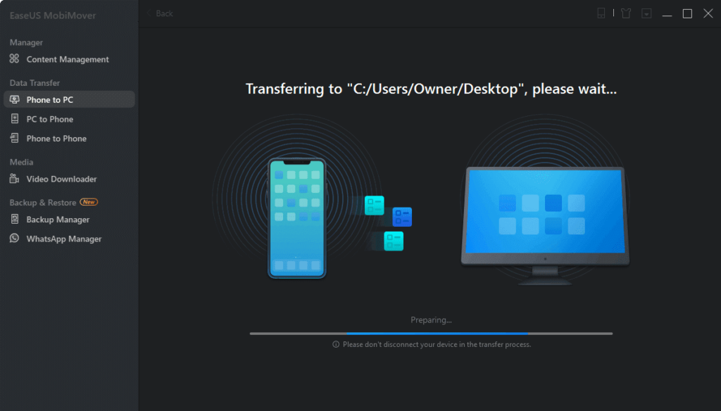 transfer iPhone to PC