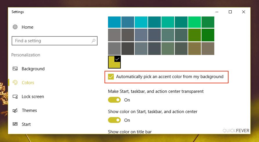 Auto pick an accent color