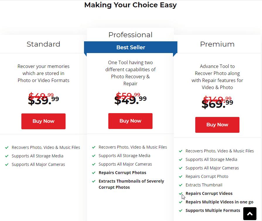 Stellar Photo Recovery pricing