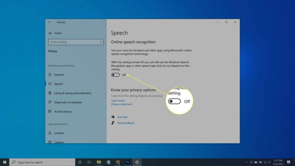speech recognition technology option