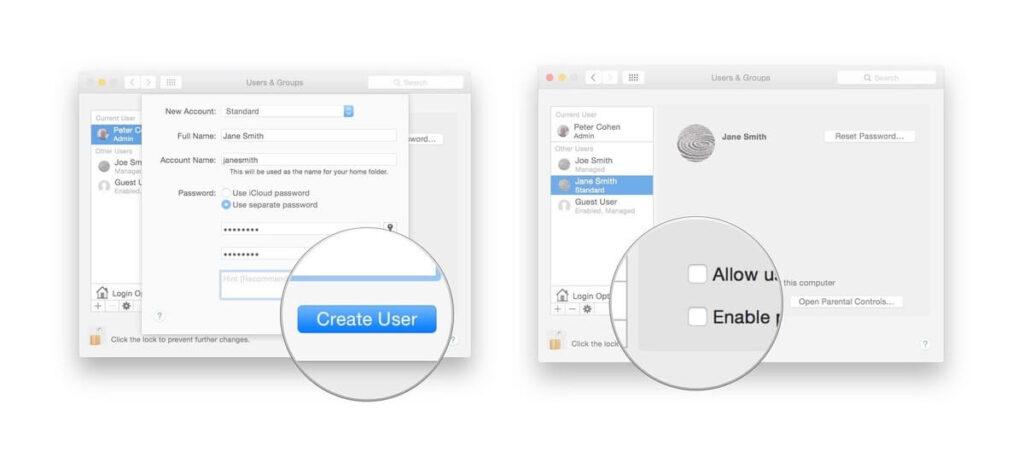 Create New User on Mac