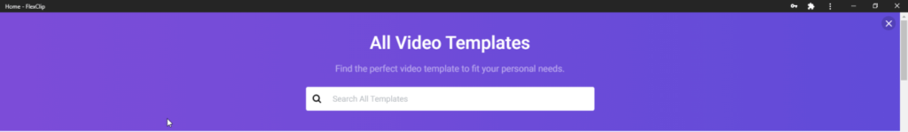 video template