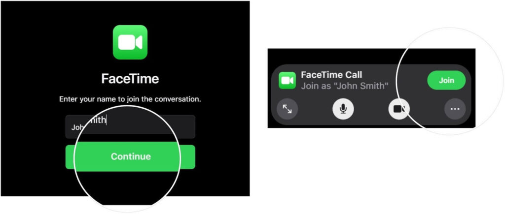 Join FaceTime Call