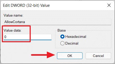 data value 0